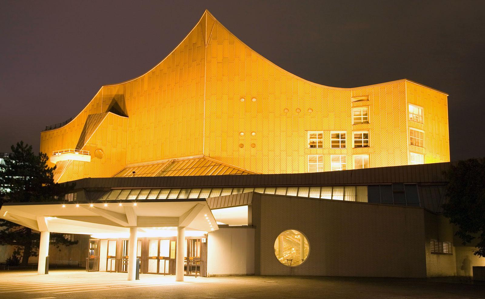 Philharmonie, Potsdamer Platz, Berlin: architect Hans Scharoun