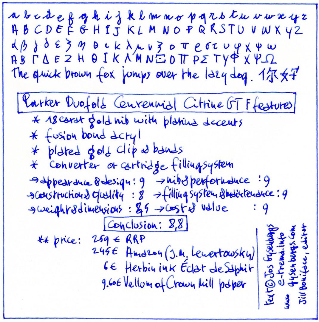 Parker Duofold Centennial sample