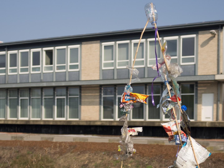 trash art at PHL Hasselt