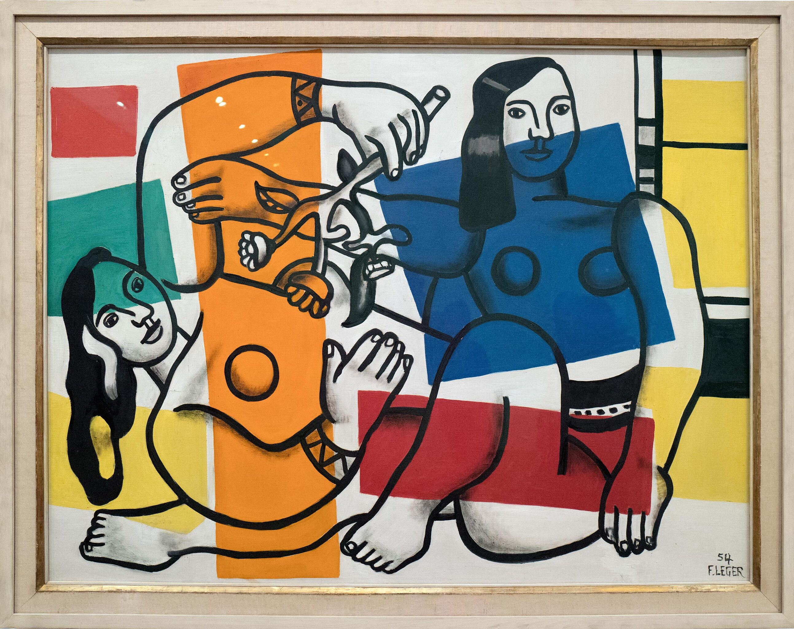 Fernand Léger: Two Women Holding Flowers 1954