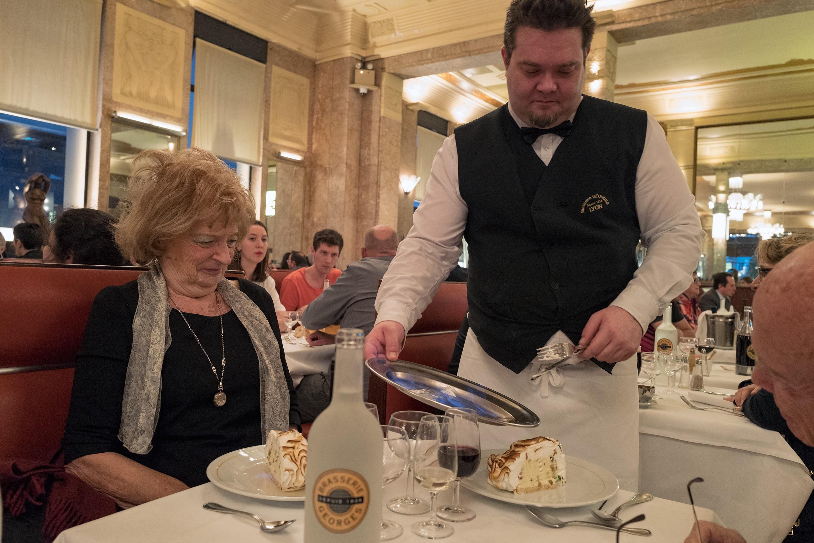 verjaardagsfeestje in brasserie Georges
