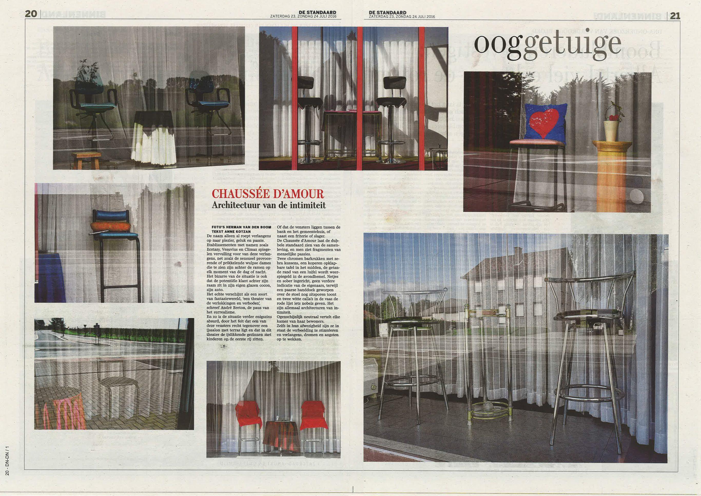 Modern reizen: Herman van den Boom in de Standaard 24-25/7/2016