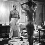 Stanley Kubrick 1948 Peter Arno in his studio with nude model
